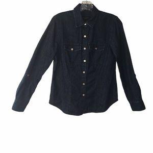 3/$21 Talbots Jean Button Down Long Sleeve Blouse